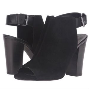 Tahari Shoes - Tahari Margaret Open Toe Suede Heels
